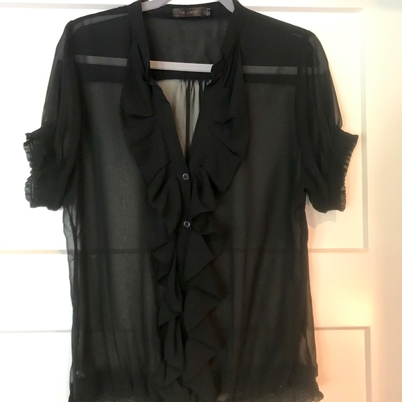 The Limited Tops - The Limited Black Sheer Top